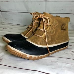 Sorel Out N' About Waterproof Leather Boots Size 7